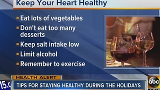 Tips to staying healthy over the holidays