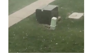 Hail Pounds Ames, Iowa - Video