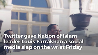 Louis Farrakhan Loses Twitter Check Mark After 'Satanic Jew' Tweet