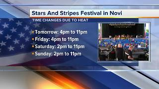 Heat changes time of Stars and Stripes Festival in Novi - Video