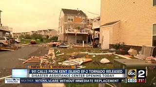 911 calls from Kent Island EF2 tornado released - Video