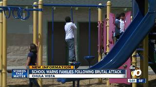 School warns families after brutal attack