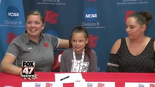 Olivet College recruits 9-year-old with chronic disease - Video
