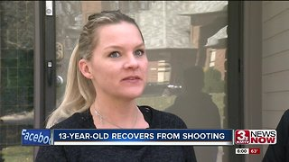 13-year-old recovers from shooting