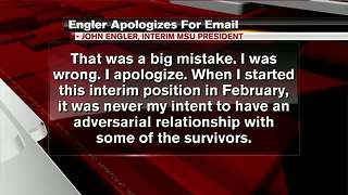 Engler issues apology for email comments - Video