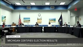 Michigan Board of State Canvassers votes to certify election results