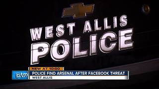 West Allis man arrested for gun cache after threatening police on Facebook - Video