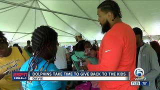 Miami Dolphins and N.O.B.L.E give back to community - Video