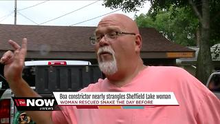 Giant snake attacks woman in Sheffield Lake, Ohio - Video