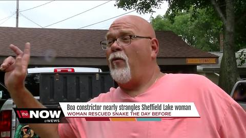 Giant snake attacks woman in Sheffield Lake, Ohio