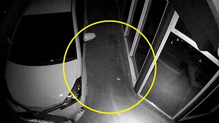 SURVEILLANCE CAMERA SPOTS CREEPY GHOST FIGURE RUNNING DOWN DRIVEWAY FOUR DAYS AFTER FATHER PASSES AWAY