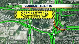 Highway 100 Ramps Reopened on I-94 - Video