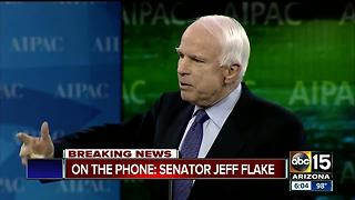 Senator Jeff Flake speaks out about McCain's diagnosis