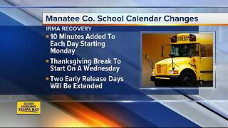 Manatee County updates school schedule after Hurricane Irma - Video