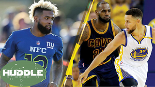 Should Odell Beckham Jr SIT OUT the Season? Who Wins Game 3 Cavs vs Warriors? -The Huddle - Video