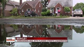 Berkley homeowners dealing with flooded streets and basements - Video