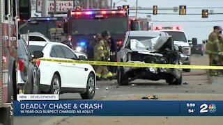 14 year old charged as adult after deadly Tulsa pursuit