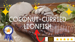 Coconut-Curried Lionfish - Delicious Fish Recipe