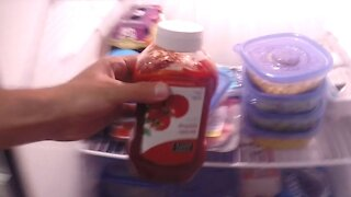 EXPLODING KETCHUP PRANK on Roommate