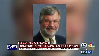 Governor: Senator Latvala should resign - Video
