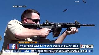 Nevada officials welcome Trump's words on bump stocks - Video