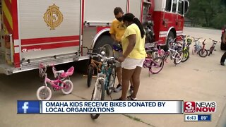 Omaha kids receive bikes donated by local organizations
