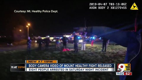 Body camera recordings show melee in Mount Healthy