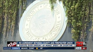 No agreement between County and Firefighter Union