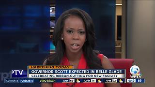 Gov. Scott in Belle Glade for opening of new business - Video
