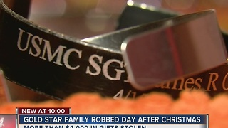 Gold Star Family Robbed The Day After Christmas - Video