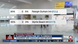 Hundreds of flights cancelled due to hurricane