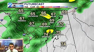 Rain Chances Continue Into Tuesday