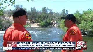 The Kern River: SAR sees record number of call-outs - Video