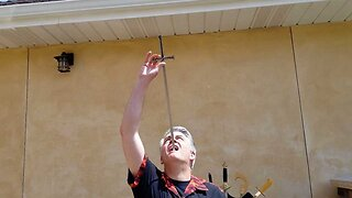 Eating His S-words! Insane Daredevil Swallows 28 Inch Swords In Succession