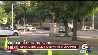 IUPUI student struck, killed by school bus - Video