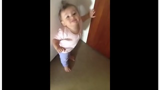 1-Year-Old Gets Adorably Upset When Daddy Prepares To Go To Work  - Video