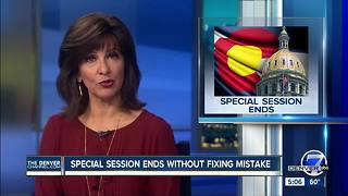 Colorado special session ends with no fix for pot-tax error - Video