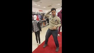 Down Syndrome man busts some amazing moves in UK shop