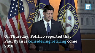 Paul Ryan Planning to Retire - Video