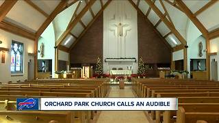Church times changed for Bills game