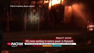DTE working to restore power in Plymouth - Video