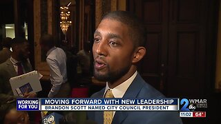 Councilman Brandon Scott voted as new Baltimore City Council President