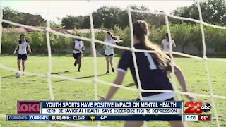 Youth sports have positive impact on mental health, Kern Behavioral Health says exercise fights depression