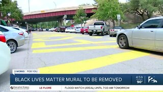 Black Lives Matter mural to be removed