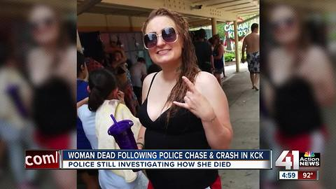 Woman dead after chase, crash in KCK