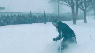 Chilliwack Resident Snowboards Through the City Streets - Video