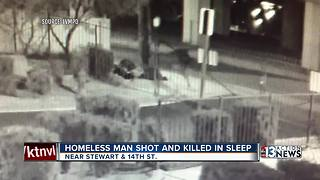 Homeless man shot under highway bridge - Video