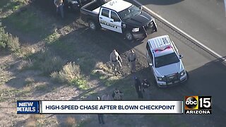 Driver arrested after running Arizona immigration checkpoint
