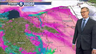 Winter Weather Advisory during morning commute - Video