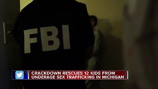 12 kids rescued, 8 arrested in Detroit area human trafficking sweep - Video